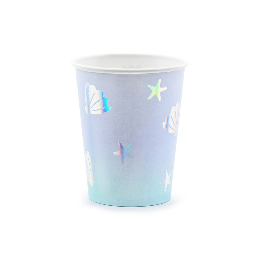 Seaside Shell Starfish Party Paper Cups x 6 Mermaid Party