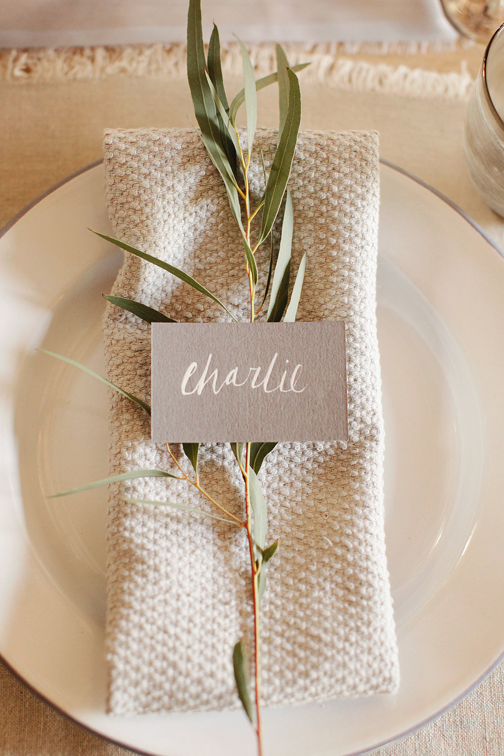 Rustic Wedding Place Setting Ideas