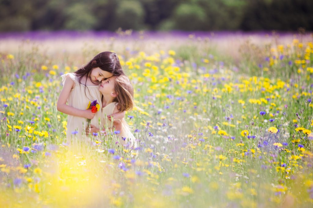 Botanicals Flower Girls in Field
