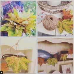 Childrens Halloween Craft Projects Autumn Leaf Decorations