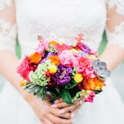 Colourful Travel Themed Wedding Ideas for Bouquets