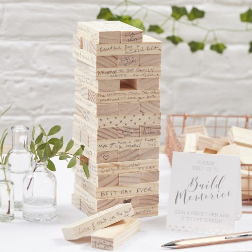 Novelty Jenga Guest Book