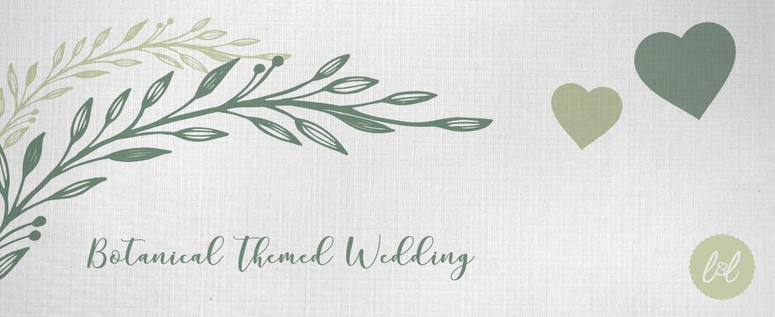 botanical garden themed wedding