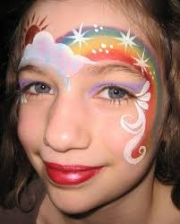 Unicorn rainbow face painting